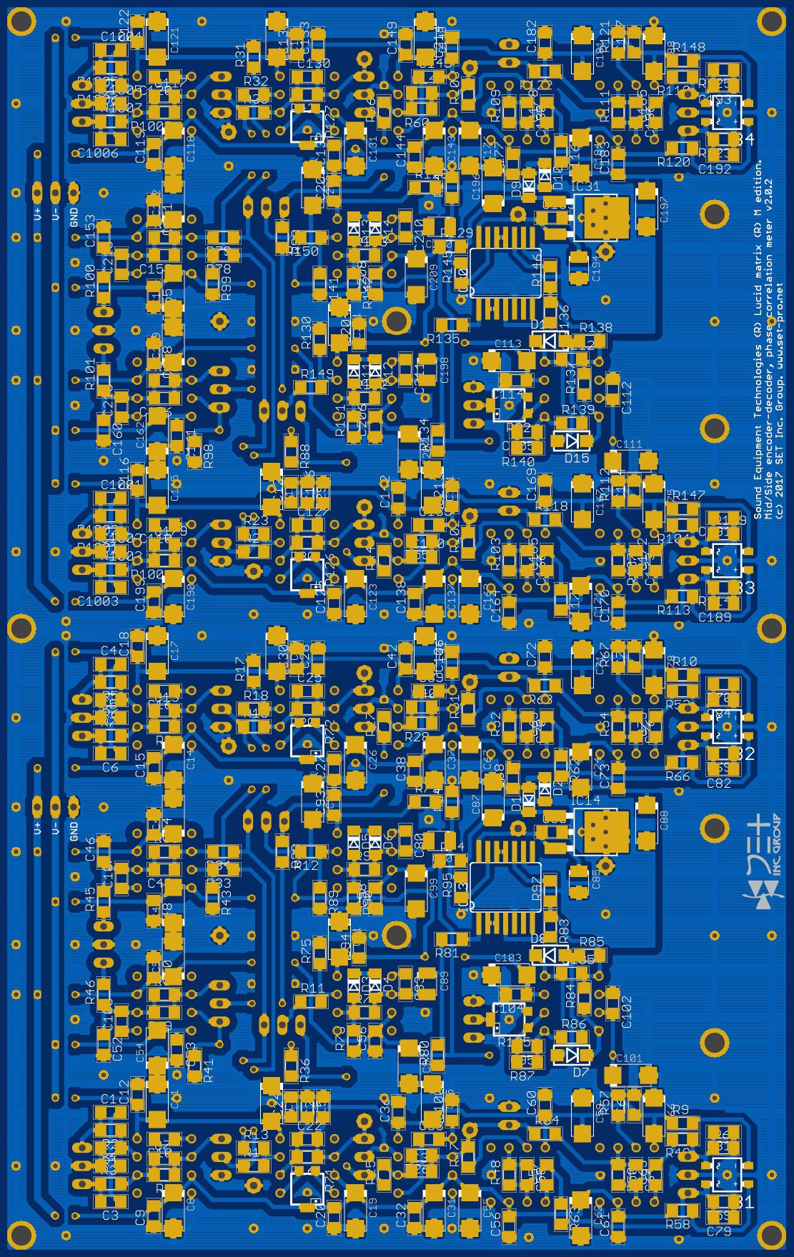 Финализированный проект печатной платы аналогового процессинга