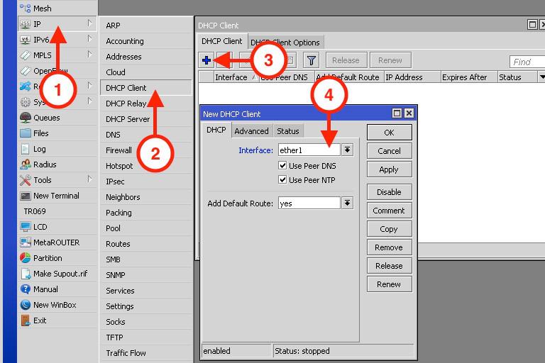 DHCP Client MikroTik
